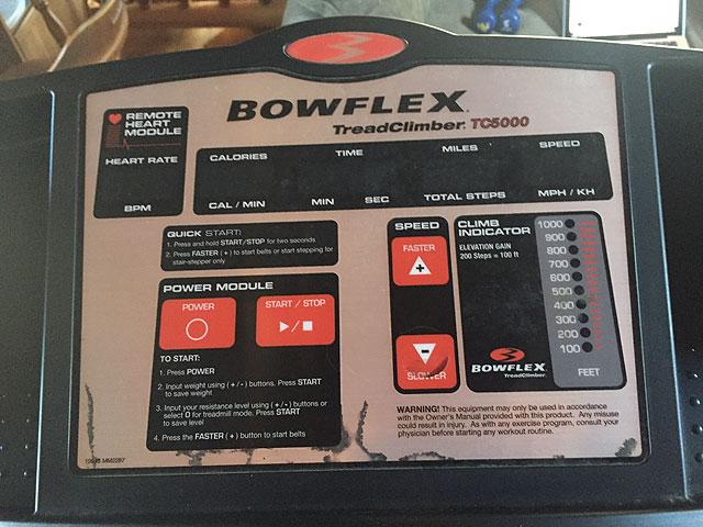 Bowflex Treadclimber Tc5000 Console