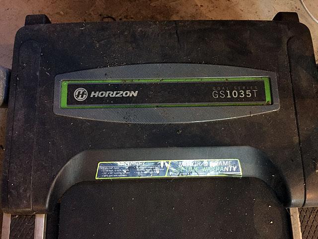 horizon running machine repairs