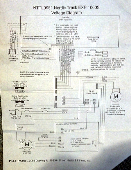 NordicTrac EXP 1000 S 2 nordictrack exp 1000s treadmill repair maine treadmill repair nordictrack wiring diagram elliptical at n-0.co