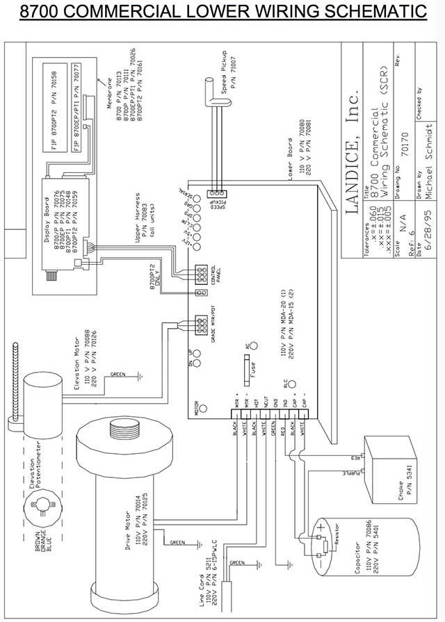 proform treadmill wiring diagram